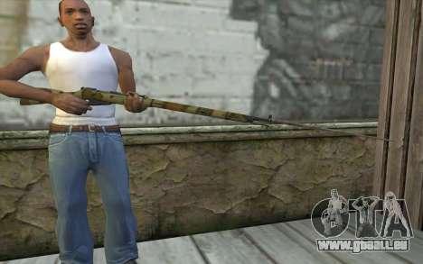 Mosin-v16 pour GTA San Andreas troisième écran