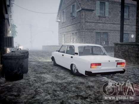 VAZ 2107 für GTA 4 hinten links Ansicht