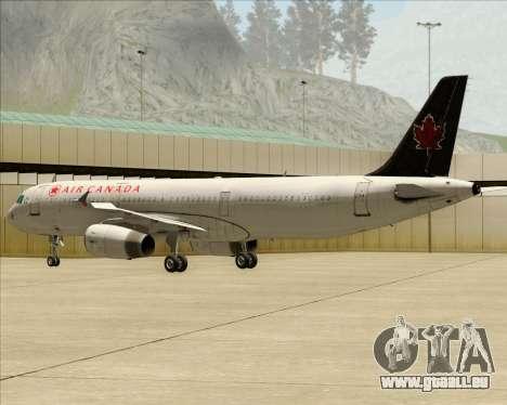 Airbus A321-200 Air Canada pour GTA San Andreas vue de droite