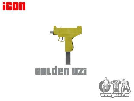 Golden Uzi pour GTA 4 troisième écran