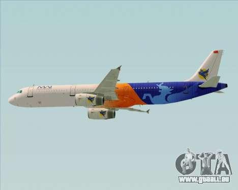 Airbus A321-200 Myanmar Airways International für GTA San Andreas Unteransicht