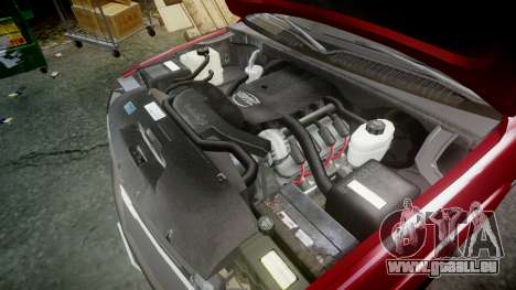 Chevrolet Suburban Undercover 2003 Black Rims pour GTA 4 est une vue de l'intérieur