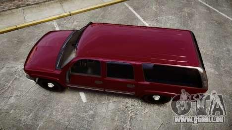 Chevrolet Suburban Undercover 2003 Black Rims pour GTA 4 est un droit