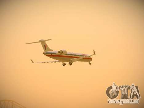 Bombardier CRJ-700 American Eagle pour GTA San Andreas vue de dessus