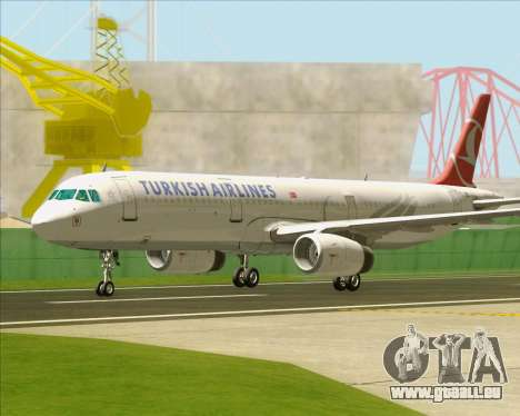 Airbus A321-200 Turkish Airlines für GTA San Andreas Unteransicht