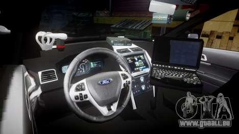 Ford Explorer 2013 Sheriff [ELS] Virginia pour GTA 4 Vue arrière