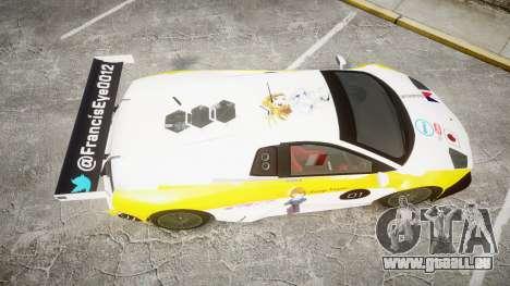 Lamborghini Murcielago GT1 Hanayo Koizumi für GTA 4 rechte Ansicht