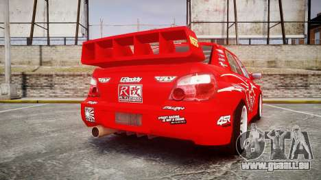 Subaru Impreza WRX STI Street Racer pour GTA 4 Vue arrière de la gauche