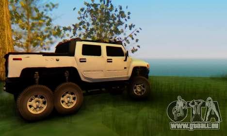 Hummer H6 Sut Pickup für GTA San Andreas Innenansicht