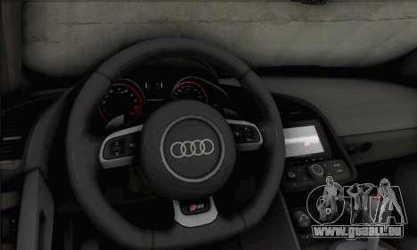 Audi R8 V10 Spyder 2014 pour GTA San Andreas vue arrière