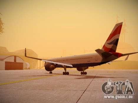 Boeing 757-236 British Airways für GTA San Andreas zurück linke Ansicht