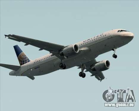 Airbus A320-232 United Airlines pour GTA San Andreas vue intérieure