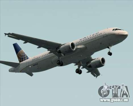 Airbus A320-232 United Airlines für GTA San Andreas Innenansicht
