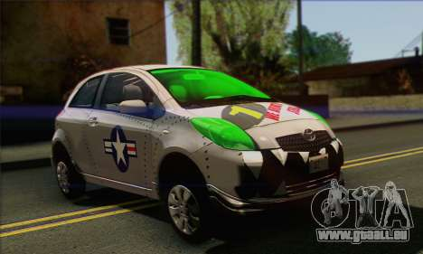 Toyota Yaris Shark Edition für GTA San Andreas rechten Ansicht