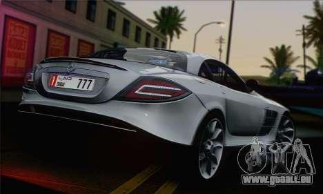 Mercedes-Benz SLR McLaren pour GTA San Andreas laissé vue