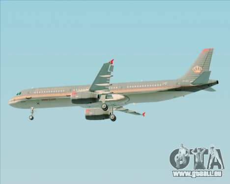 Airbus A321-200 Royal Jordanian Airlines pour GTA San Andreas roue