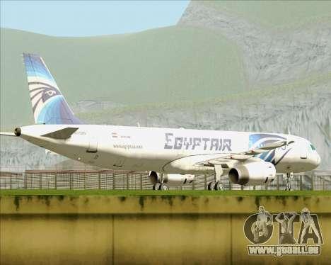 Airbus A321-200 EgyptAir pour GTA San Andreas vue intérieure