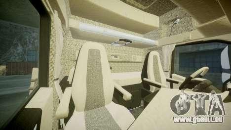 Volvo FH16 pour GTA 4 est une vue de l'intérieur