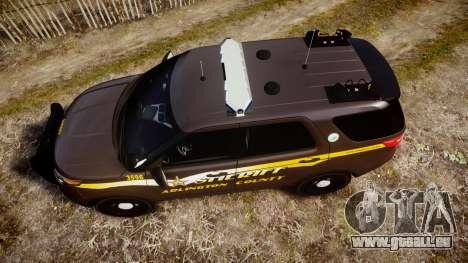 Ford Explorer 2013 Sheriff [ELS] Virginia pour GTA 4 est un droit