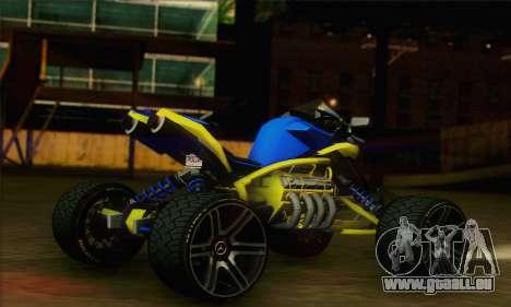 ATV Quad pour GTA San Andreas laissé vue