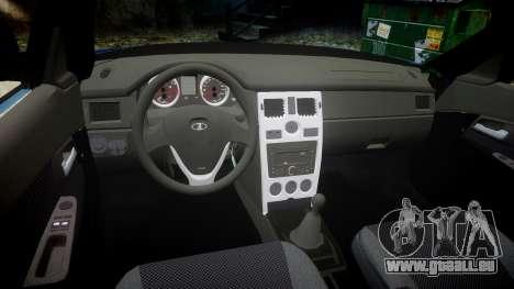 VAZ-2170 Priora emboutissage pour GTA 4 est une vue de l'intérieur
