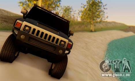 Hummer H6 Sut Pickup für GTA San Andreas Rückansicht