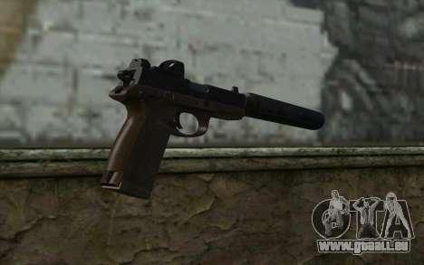 FN FNP-45 Avec Silencieux de la Vue et de pour GTA San Andreas deuxième écran