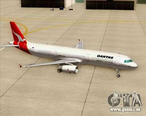 Airbus A321-200 Qantas für GTA San Andreas Räder