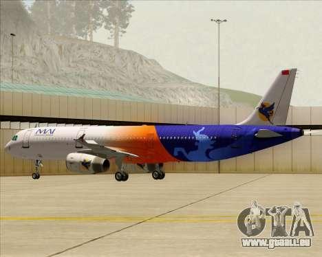 Airbus A321-200 Myanmar Airways International für GTA San Andreas Räder