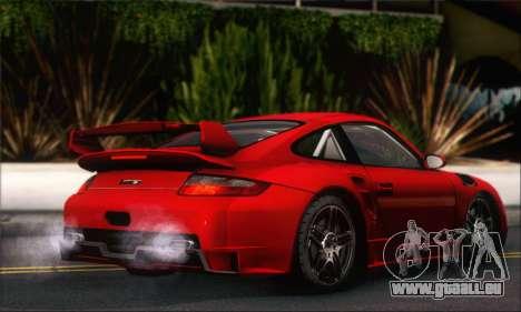 Porsche 997 Turbo Tunable pour GTA San Andreas vue arrière