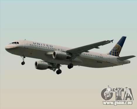Airbus A320-232 United Airlines für GTA San Andreas rechten Ansicht