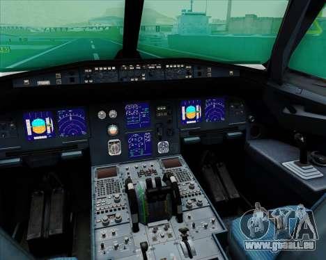 Airbus A321-200 EgyptAir für GTA San Andreas Innen