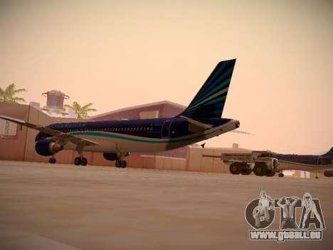 Airbus A320-214 Azerbaijan Airlines AZAL für GTA San Andreas rechten Ansicht