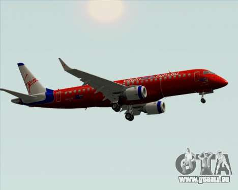 Embraer E-190 Virgin Blue für GTA San Andreas Rückansicht