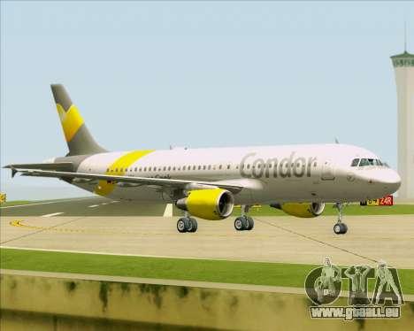 Airbus A320-212 Condor pour GTA San Andreas sur la vue arrière gauche