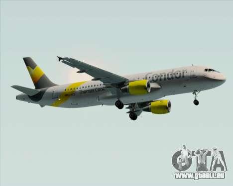Airbus A320-212 Condor für GTA San Andreas rechten Ansicht
