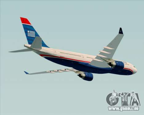 Airbus A330-200 US Airways für GTA San Andreas Seitenansicht