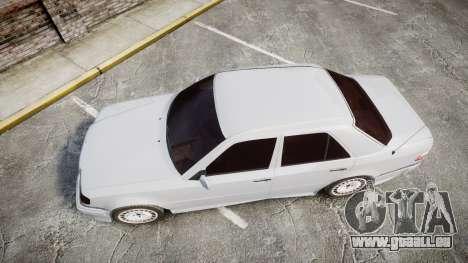 Mercedes-Benz E500 1998 Tuned Wheel White für GTA 4 rechte Ansicht