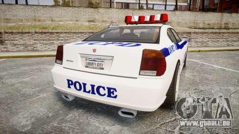 Bravado Buffalo Police pour GTA 4 Vue arrière de la gauche