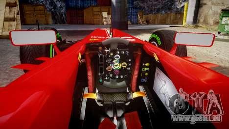 Ferrari F138 v2.0 [RIV] Massa TMD pour GTA 4 Vue arrière