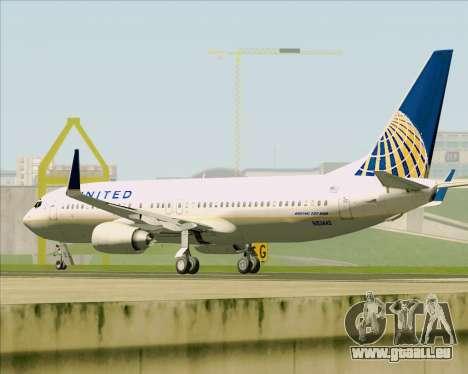 Boeing 737-824 United Airlines für GTA San Andreas Unteransicht