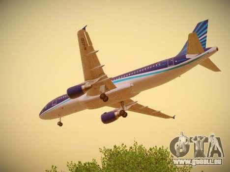 Airbus A320-214 Azerbaijan Airlines AZAL für GTA San Andreas Unteransicht