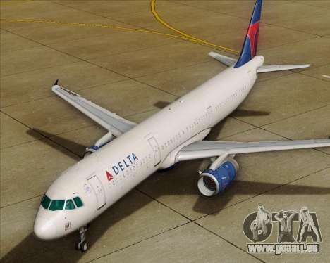 Airbus A321-200 Delta Air Lines für GTA San Andreas Räder
