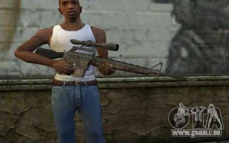 M16S from Battlefield: Vietnam pour GTA San Andreas troisième écran