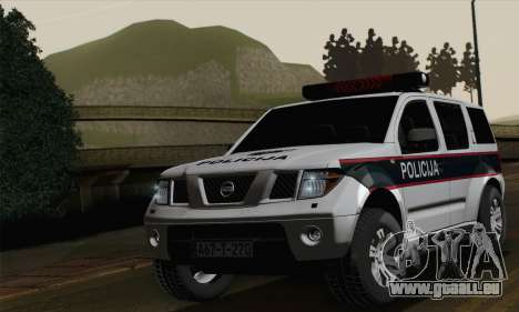 Nissan Pathfinder Policija pour GTA San Andreas