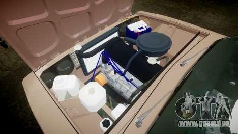 VAZ-2106 hooligan azerbaïdjanais style pour GTA 4 est une vue de l'intérieur
