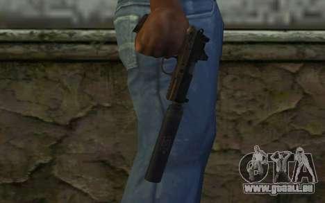 FN FNP-45 Avec Silencieux de la Vue et de pour GTA San Andreas troisième écran