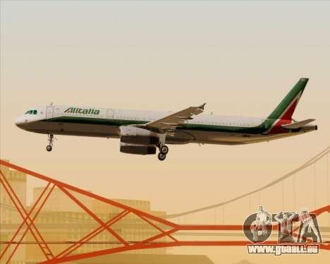 Airbus A321-200 Alitalia für GTA San Andreas Räder