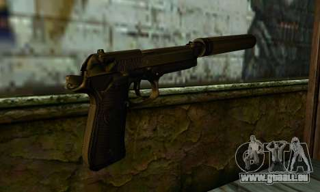 Beretta M9 Silenced pour GTA San Andreas deuxième écran