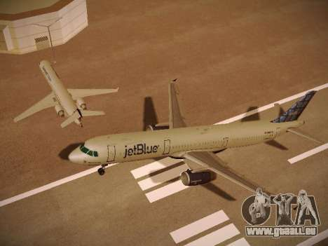 Airbus A321-232 jetBlue Blue Kid in the Town pour GTA San Andreas moteur